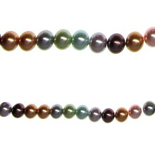 Bead Gallery Pearl Beads Multicolored, Close Up