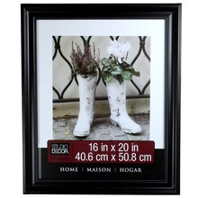 "Studio Décor Home Collection Classic Beaded Frame, Black 16"" x 20"""