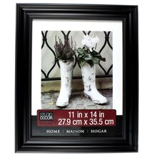 "Studio Décor Home Collection Classic Beaded Frame, Black 11"" x 14"""