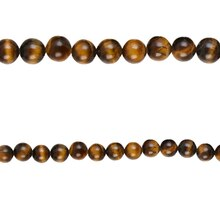 Bead Gallery Tiger Eye Round Beads, Close Up