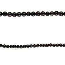 Bead Gallery Round Black Jasper Beads, 6mm, Close Up