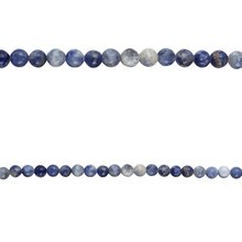 Bead Gallery Round Sodalite Beads, Close Up