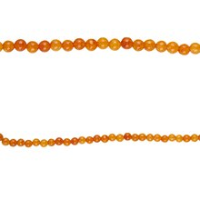Bead Gallery Round Orange Quartzite Beads, 4mm, Close Up
