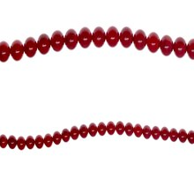 Bead Gallery Red Dyed Bamboo Coral Beads, 7mm, Close Up