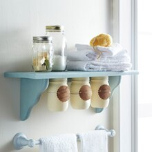 Under Shelf Mason Jar Storage