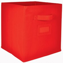 Recollections Craft Storage System Fabric Bin, Red