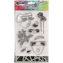 Dylusions Stamp & Stencil Set, Shattered Bits