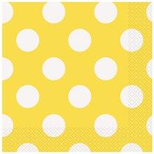 Yellow Polka Dots Luncheon Napkins, 16ct
