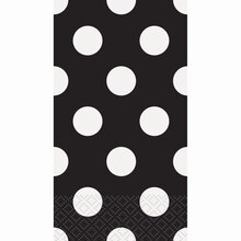 Black Polka Dots Paper Guest Towels, 40ct