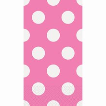 Hot Pink Polka Dots Paper Guest Towels, 40ct