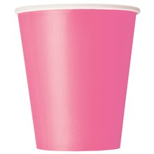 9oz Hot Pink Paper Cups, 8ct