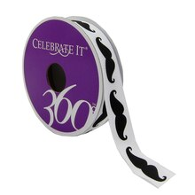 Celebrate It 360 Grosgrain Ribbon, Mustache