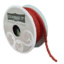 Celebrate It Occasions Jute Trim, 3mm, Red