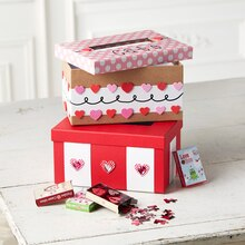 Striped Valentine's Day Card Mailbox