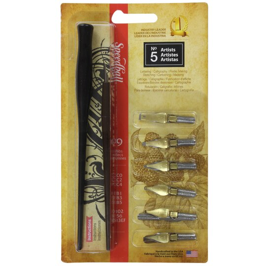 Speedball No 5 Artist Pen Set