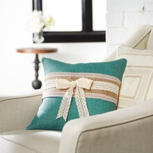 Burlap-Wrapped Pillow