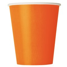 9oz Orange Paper Cups, 8ct