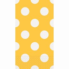 Yellow Polka Dots Paper Guest Towels, 16ct