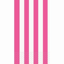 Hot Pink Striped Paper Guest Towels, 16ct