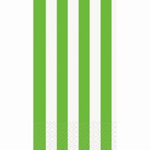 Lime Green Striped Paper Guest Towels, 16ct