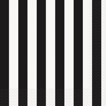 Black Striped Luncheon Napkins, 16ct