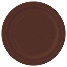 "7"" Brown Dessert Plates, 8ct"