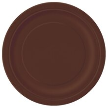 "9"" Brown Dinner Plates, 8ct"
