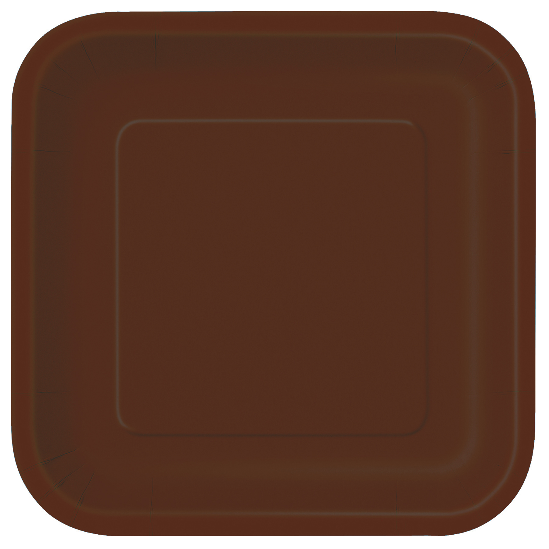 9u201d Square Brown Dinner Plates ... & 9