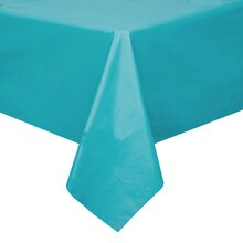 "Plastic Teal Table Cover, 108"" x 54"""