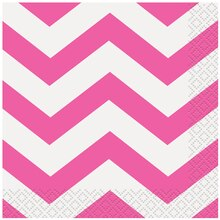 Hot Pink Chevron Beverage Napkins, 16ct
