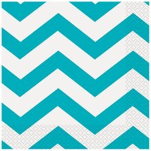 Teal Chevron Luncheon Napkins, 16ct