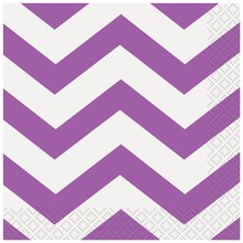 Purple Chevron Beverage Napkins, 16ct