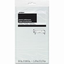 "Plastic Clear Table Cover, 108"" x 54"", Package"