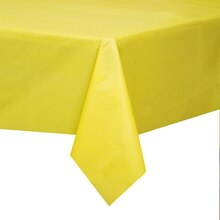 "Plastic Yellow Table Cover, 108"" x 54"""