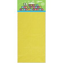 Yellow Paper Party Bags, 12ct Package