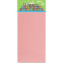 Light Pink Paper Party Bags, 12ct, Package