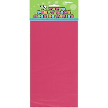 Hot Pink Paper Party Bags, 12ct, Package