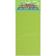 Lime Green Paper Party Bags, 12ct, Package