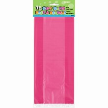 Hot Pink Cellophane Bags, 30ct
