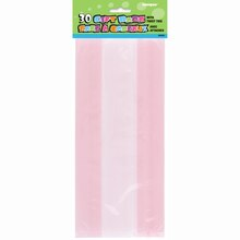 Light Pink Cellophane Bags, 30ct