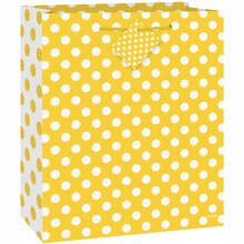 Medium Yellow Polka Dots Gift Bag