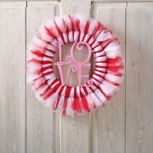"""LOVE"" Tulle Wreath"