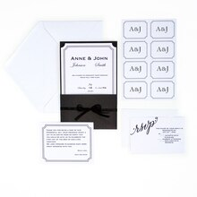 Celebrate It Occasions Black & White Invitation Suite