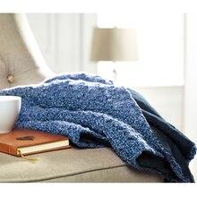 Loops & Threads® Urban Denim Throw (Crochet), Navy