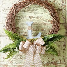 Grapevine Wreath with Burlap Bow