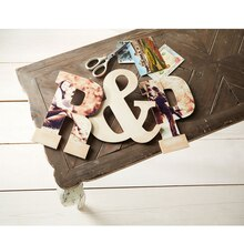 Decoupaged Wood Letter
