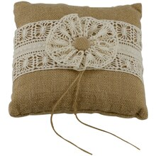 Celebrate It Occasions Ring Bearer Pillow, Burlap
