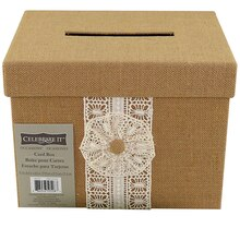 Celebrate It Occasions Burlap Card Box