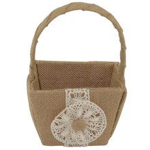 Celebrate It Occasions Burlap Flower Girl Basket