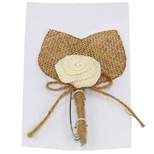 Celebrate It Occasions Burlap Boutonniere
